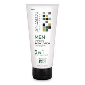 Andalou Naturals Men's CannaCell Energizing 3-in-1 Body Lotion, 8.5 Oz.