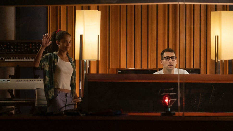 Zoe Kravitz and Jack Antonoff on Hulu's High Fidelity.
