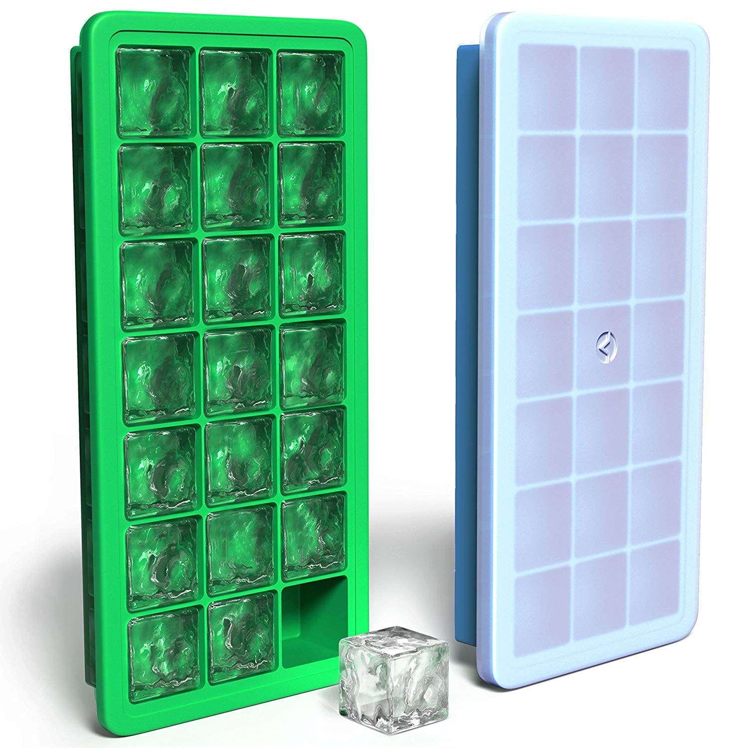 3 x Plastic Ice Cube Maker Tray Total of 42 Cubes
