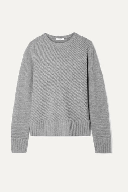 Abril ribbed wool and cashmere-blend sweater