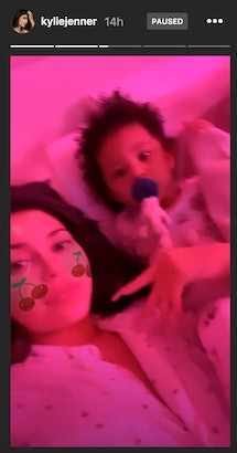 Kylie Jenner was 'sushed' by daughter, Stormi, after interrupting her while watching 'Frozen 2'.