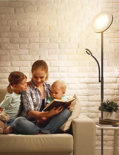 Kaulsoue LED Floor Lamps with Flexible Gooseneck Reading Light