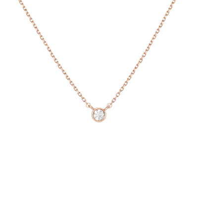Rose Gold XL Diamond Bezel Necklace