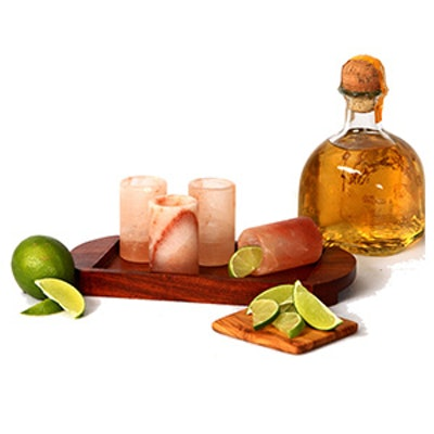 The Spice Lab Pink Himalayan Salt Tequila Shot Glasses