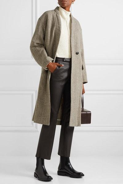 Henlo herringbone wool coat