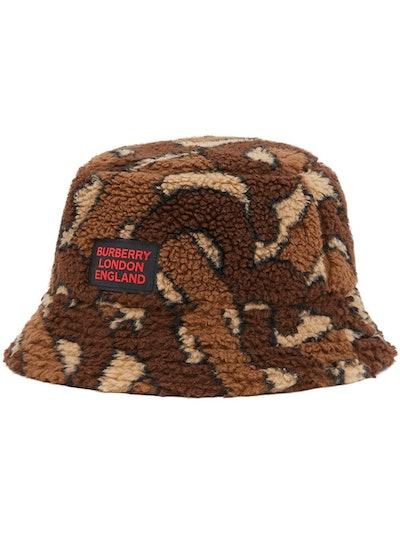 Monogram Fleece Bucket Hat