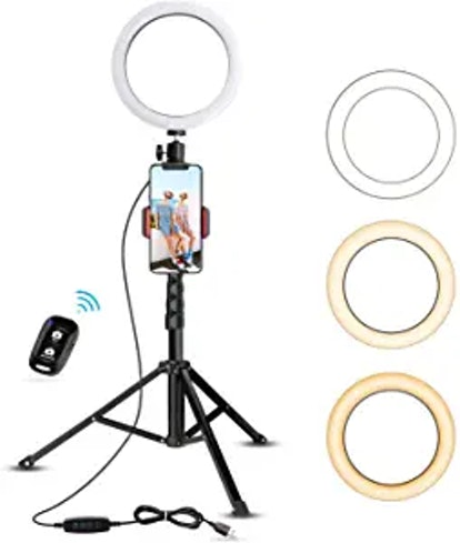 """8"""" Selfie Ring Light with Tripod Stand"""