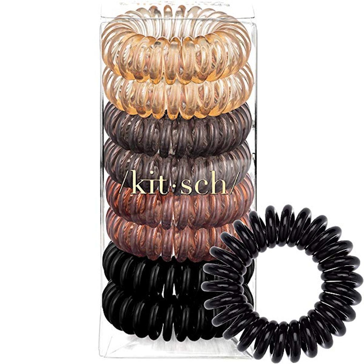 Kitsch Spiral Hair Ties (8 pieces)