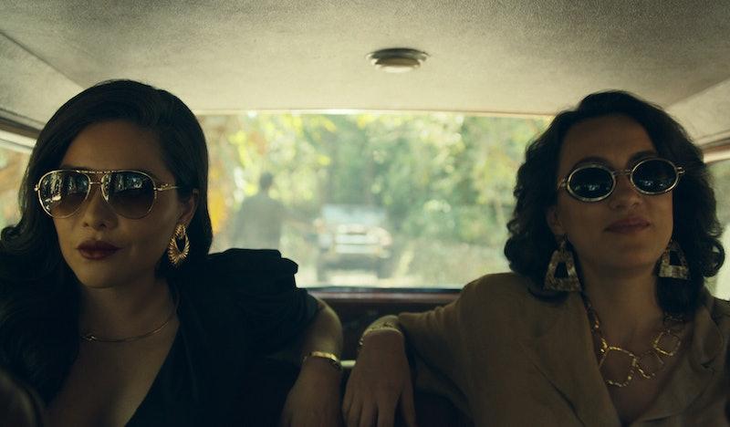 Teresa Ruiz as Isabella Bautista and Mayra Hermosillo as Enedina Arellano Félix in 'Narcos: Mexico' Season 2