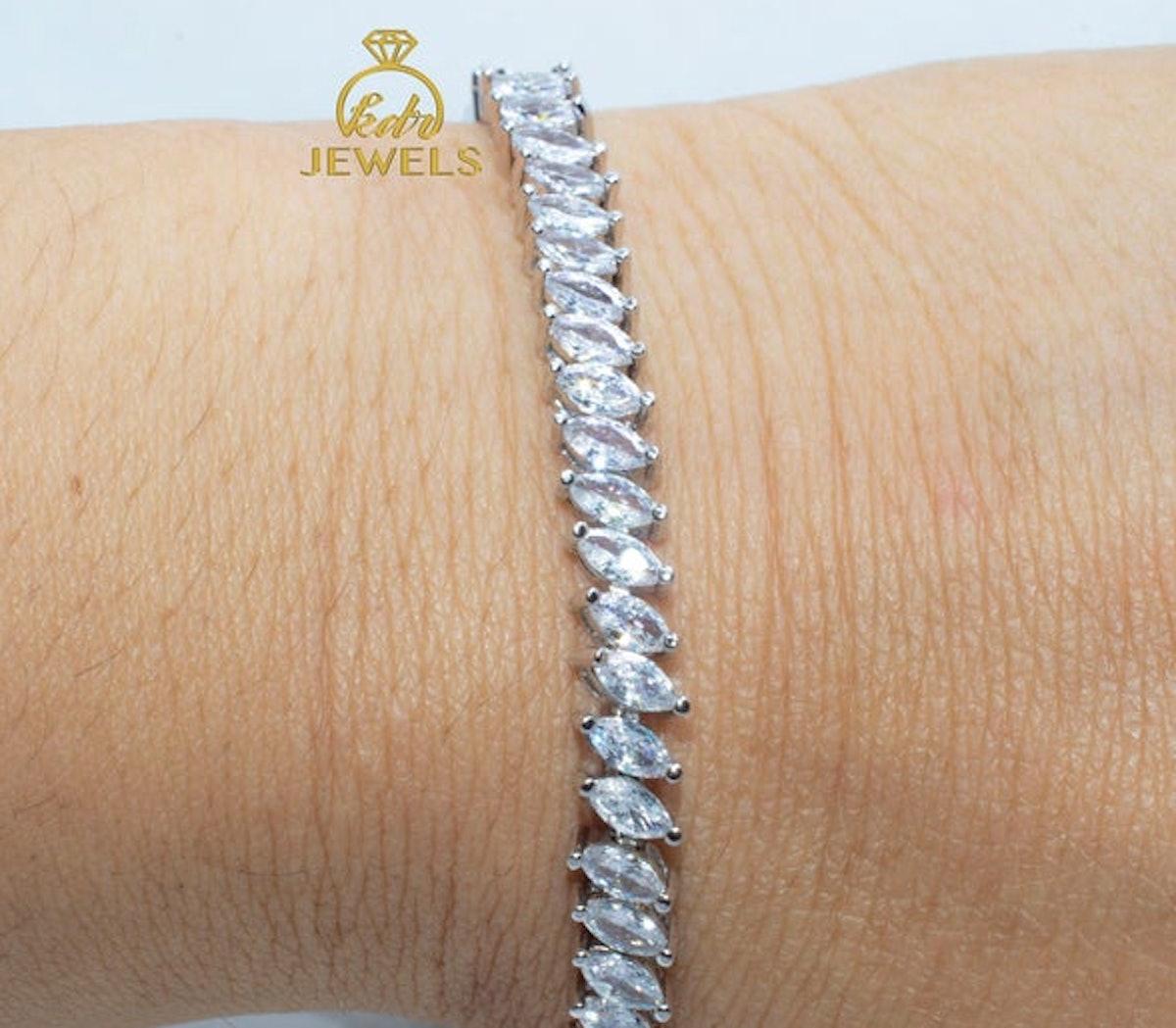 Marquise Moissanite Bracelet