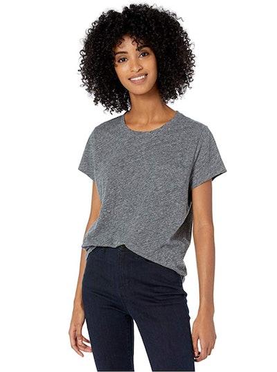 Goodthreads Women's Washed Jersey Cotton Pocket Crewneck T-Shirt