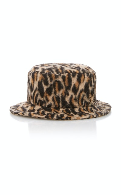 Leopard-Print Bucket Hat