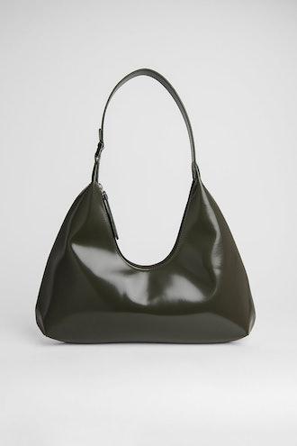 Amber Dark Green Semi Patent Leather
