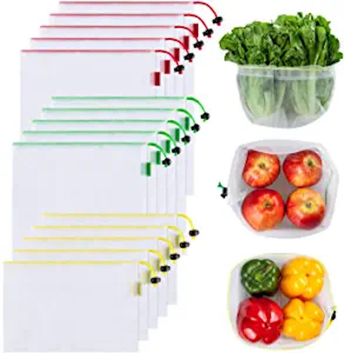 Ecowaare Reusable Mesh Produce Bags (15 pieces)