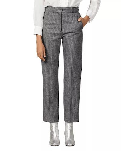 Jena Striped Wool-Blend Pants