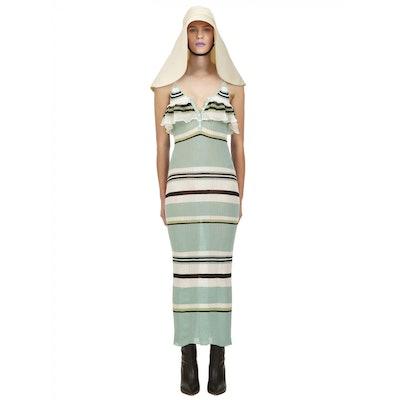 Mint Multi Stripe Knit Cami Dress