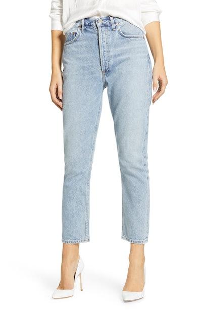 Riley High Waist Crop Straight Leg Jeans