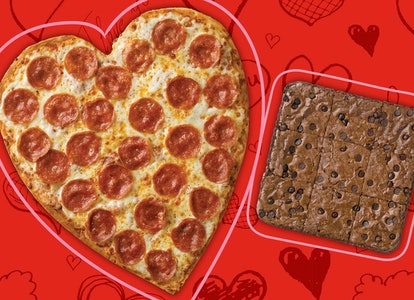 You can get a heart-shaped pizza from Papa John's this Valentine's Day.