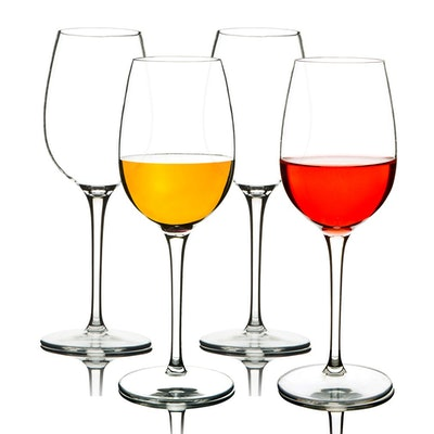 MICHLEY Unbreakable Plastic Wine Glasses (Set Of 4)