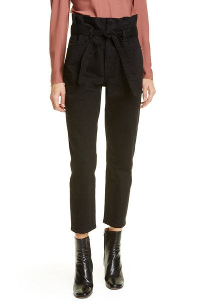 Paperbag Waist Pegged Jeans