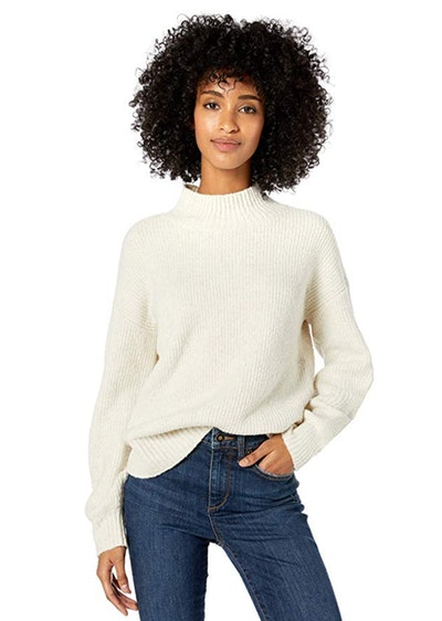 Goodthreads Women's Boucle Shaker Stitch Balloon-Sleeve Sweater