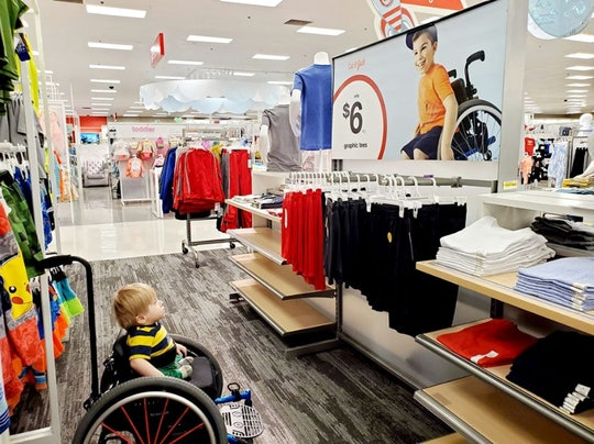 "A little boy in a wheelchair was transfixed by a Target ad that looked ""just like him."""