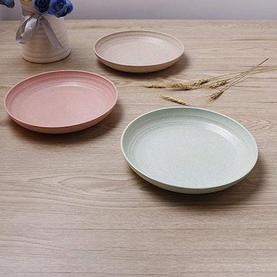 iTavah Lightweight Degradable Wheat Straw Plates (3-Pack)