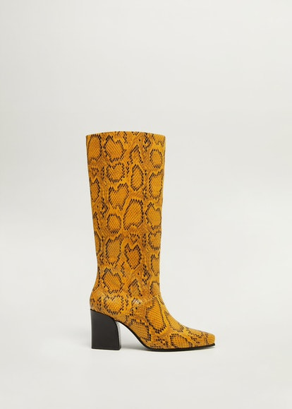 Snake-Effect Boots