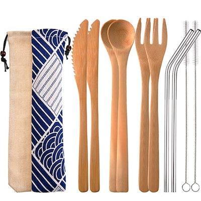 Blulu Bamboo Cutlery Set (Set of 2)