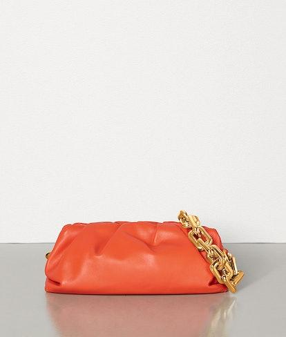 Orange Chain Pouch
