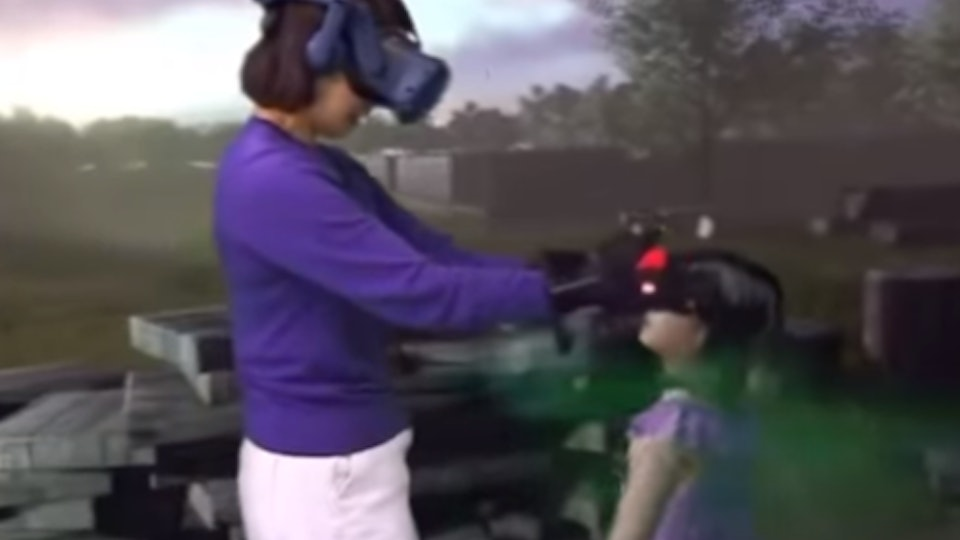 A grieving mom is reunited with her deceased daughter through virtual reality.