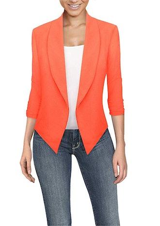 HyBrid & Company Women's Open Front Blazer