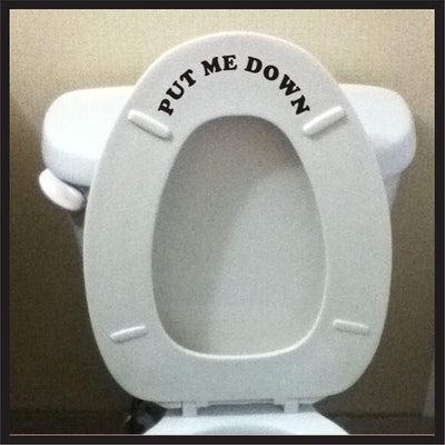 Sticker Connection Toilet Seat Decal