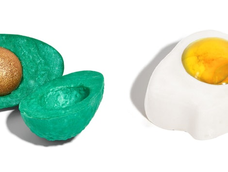 Lush's spring launches include an avocado bubble bar and egg shower jelly.