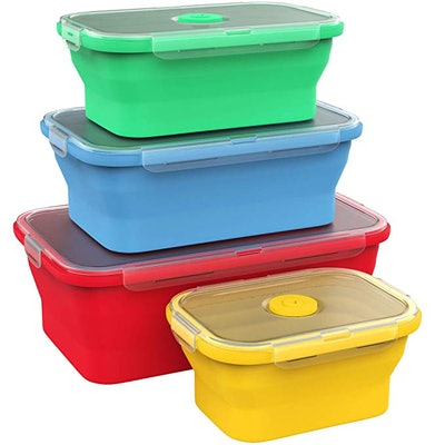 Vremi Silicone Food Storage Containers (4-Pack)