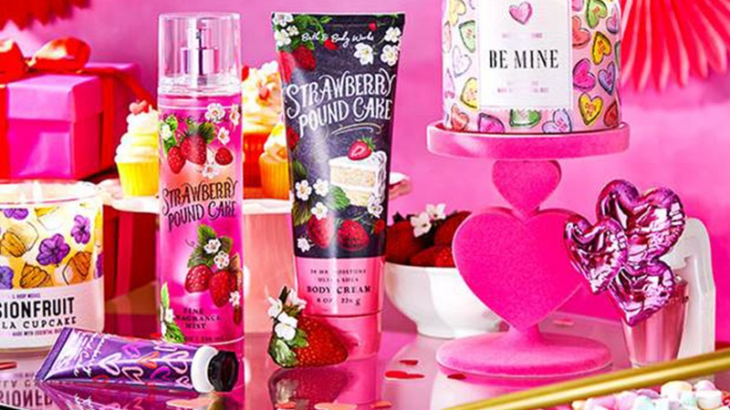 Bath & Body Works has a Valentine's Day range with over 41 items.