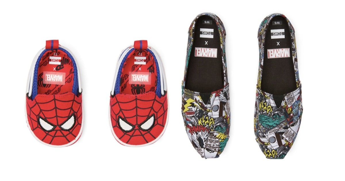 This Marvel TOMS Collab Is The Best Pairing Since Spider-Man & Iron Man
