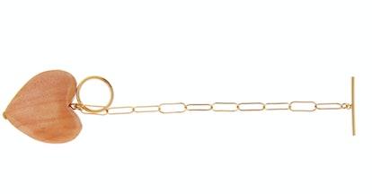 Maple Wood Heart Bracelet