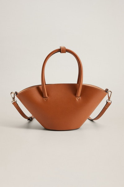 Mango Double Strap Mini Basket Bag