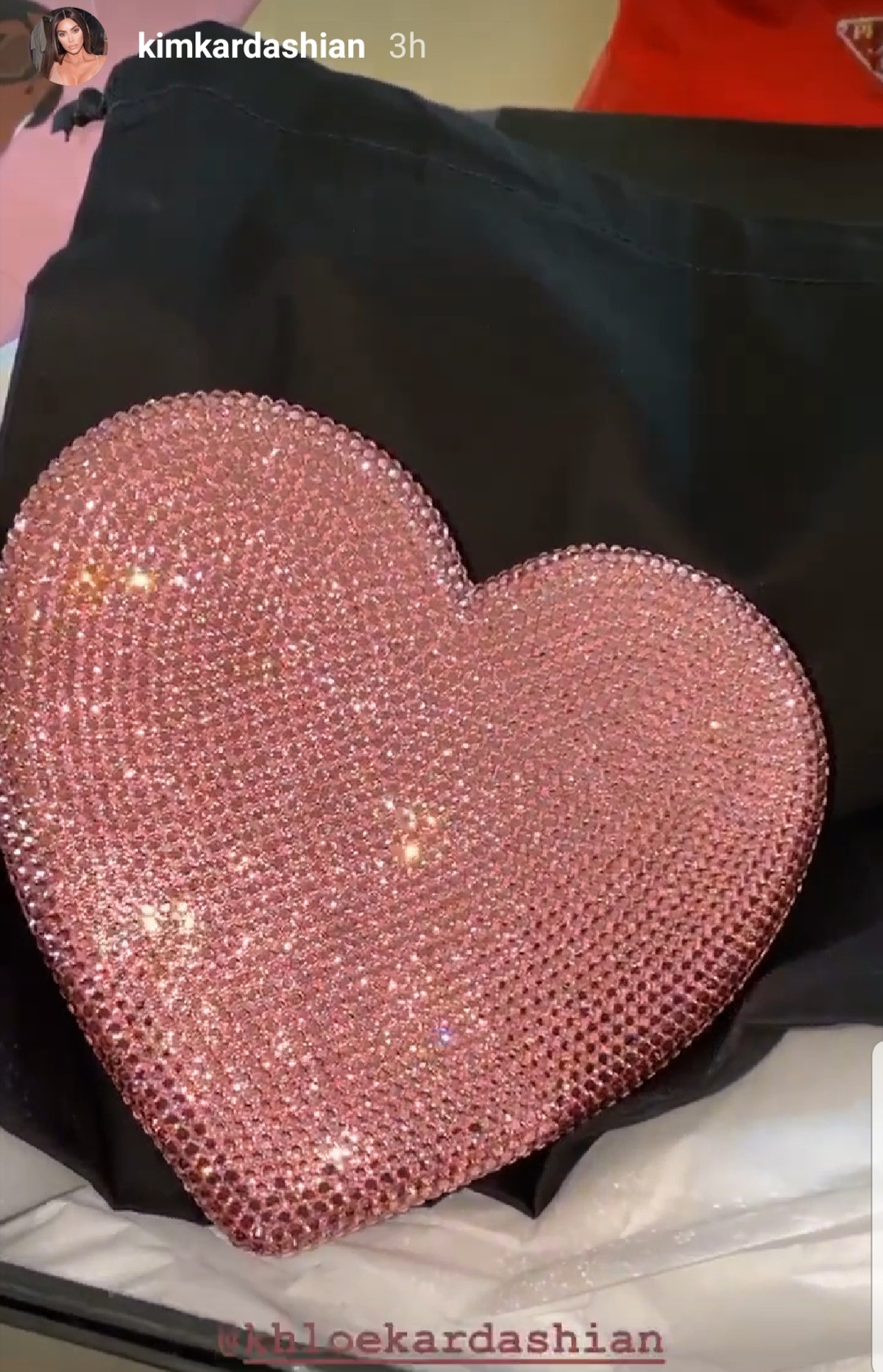Khloé Kardashian's 2020 Valentine's day gifts for Kim were wrapped in Kanye West paper.