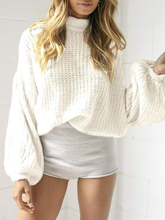 Simplee Apparel Bell Sleeve Pullover Knit Sweater