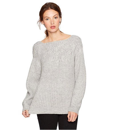 Cable Stitch Women's Long Sleeve Twisted Rib Sweater