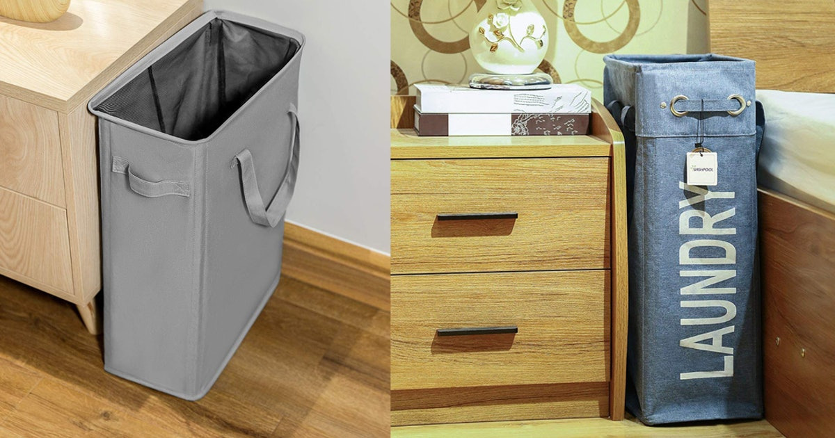 Tight On Space? These Laundry Hampers Have Small Footprints & Can Fit In Narrow Spaces