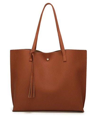Dreubea Soft Faux Leather Tote