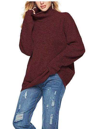 Romanstii Women Turtleneck Sweaters