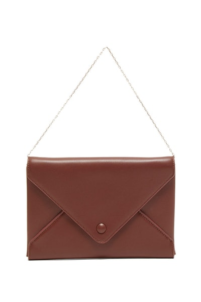 The Row Envelope Chain-Handle Leather Clutch