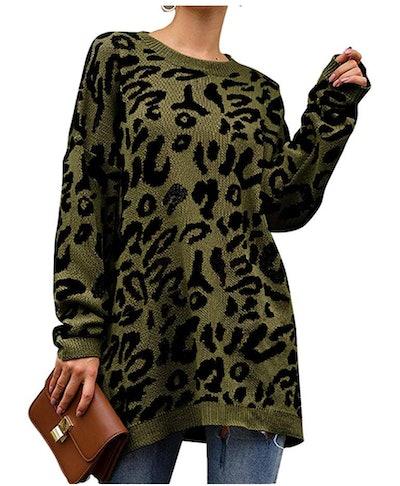 PRETTYGARDEN Women's Casual Leopard Print Sweater