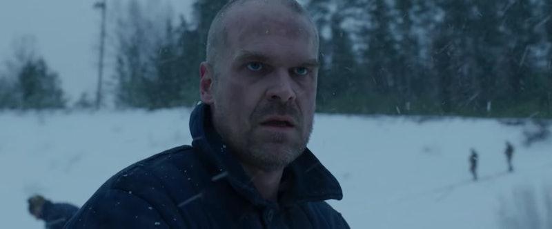 David Harbour as Hopper in 'Stranger Things 4'