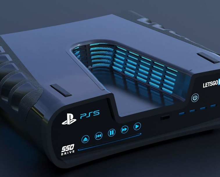 Concept render based on PS5 development kits.