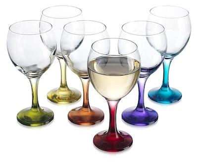 HC Carnival Color Wine Glasses (6-Pack)